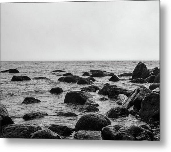Boulders In The Ocean Metal Print