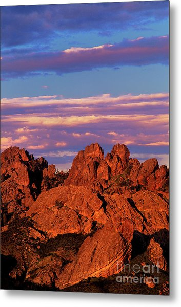 Boulders Sunset Light Pinnacles National Park Californ Metal Print