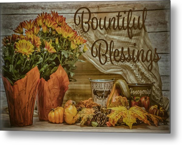 Bountiful Blessings Metal Print