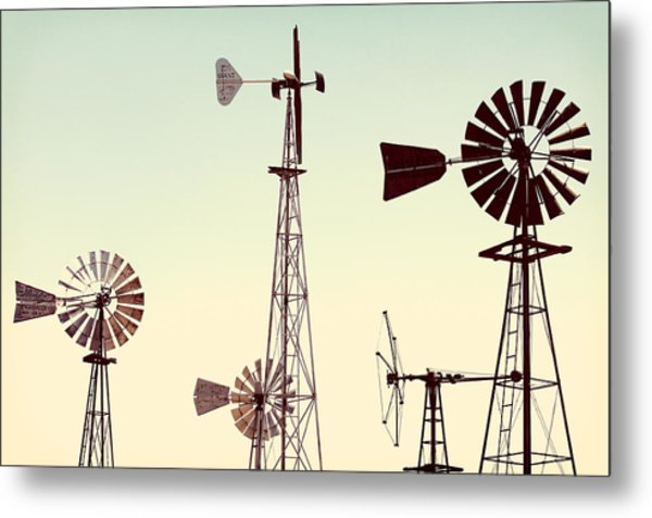 Bountiful Windmills Metal Print
