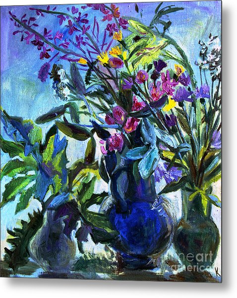 Bouquet Metal Print by Katia Weyher