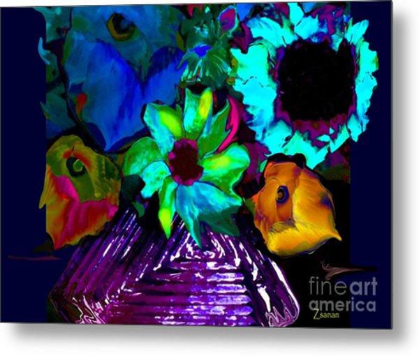 Bouquet In Fauve Metal Print