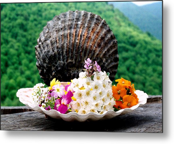 Bouquet Of Flowers Metal Print by Robert Shahbazi