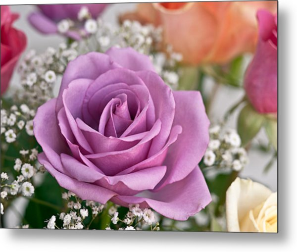 Bouquet Of Roses Metal Print by Jeff Abrahamson