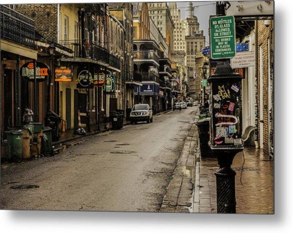 Bourbon Street By Day Metal Print
