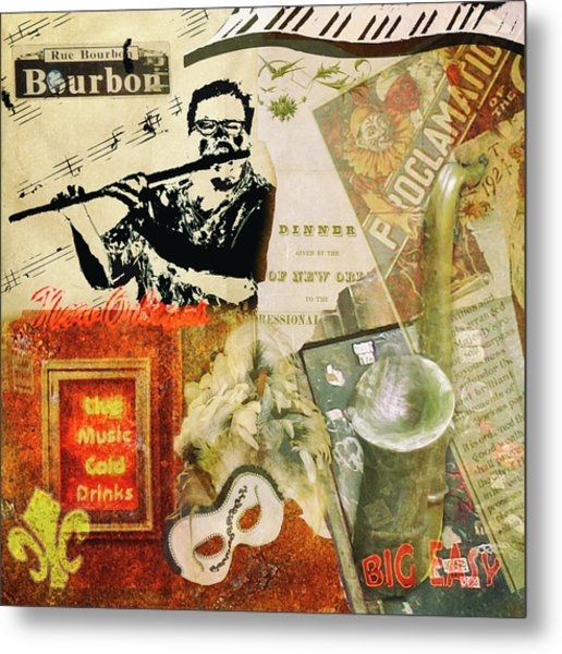 Bourbon Street Collage Metal Print