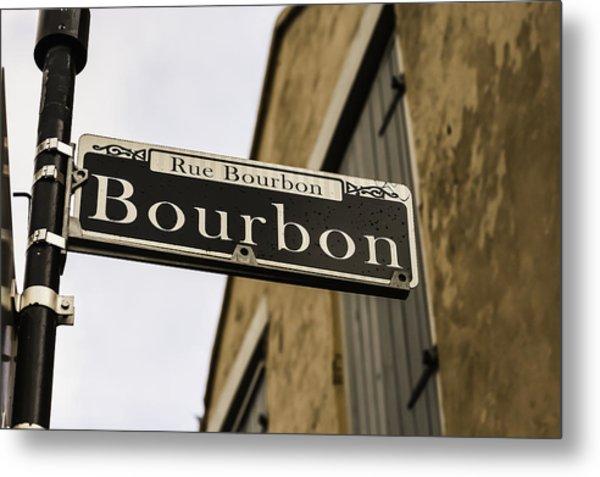 Bourbon Street, New Orleans, Louisiana Metal Print