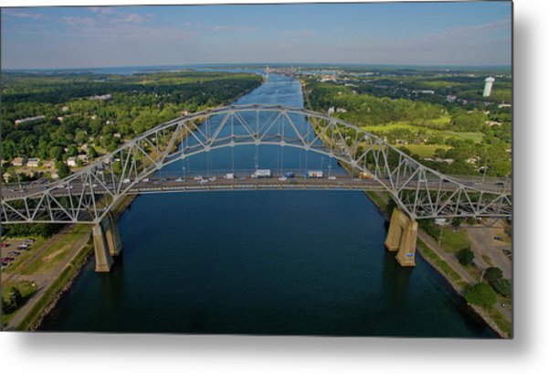 Bourne Bridge, Ma Metal Print