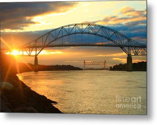 Bourne Bridge Sunset Metal Print