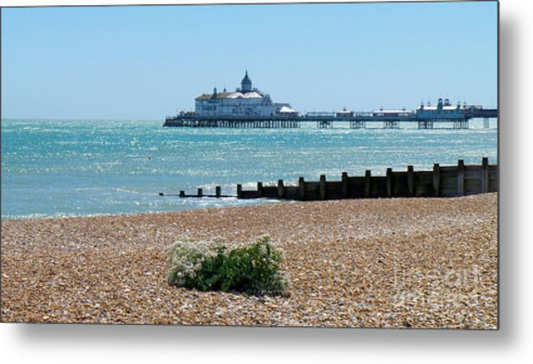 Bournemouth Seaside View Metal Print