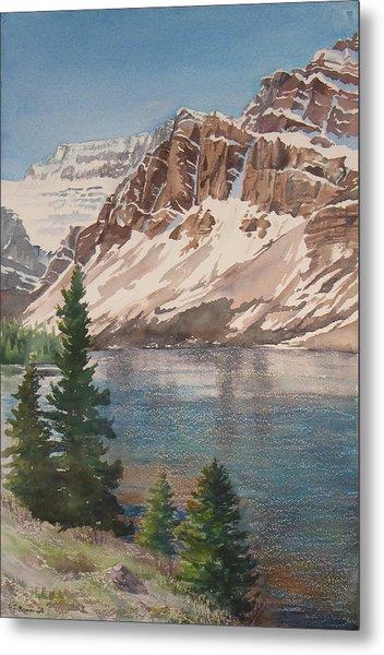 Bow Lake Alberta Metal Print by Debbie Homewood
