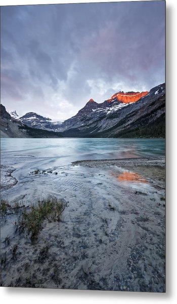 Bow Lake At Sunrise Metal Print by Jon Glaser