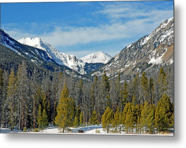 Bowen Mountain In Winter Metal Print