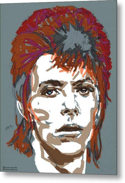 Bowie As Ziggy Metal Print