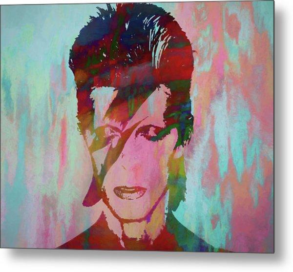 Bowie Reflection Metal Print