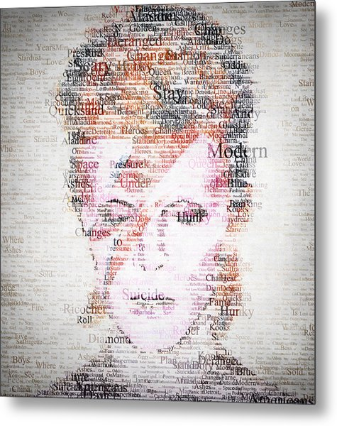 Bowie Typo Metal Print
