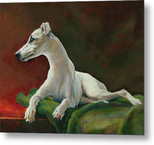 Bowie Whippet Metal Print