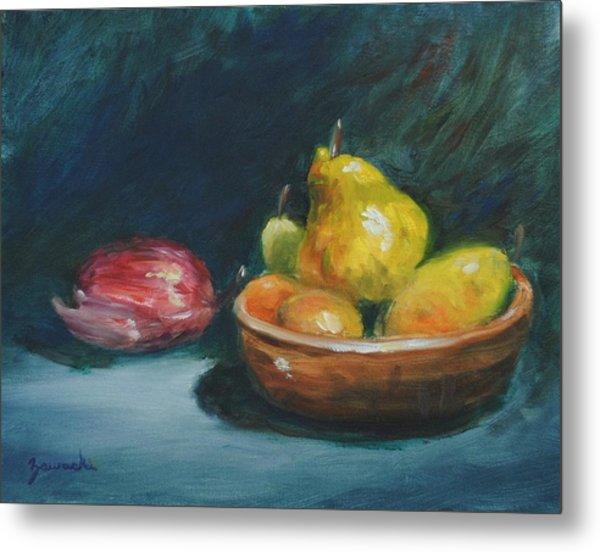 Bowl Of Fruit By Alan Zawacki Metal Print