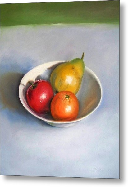 Bowl With Fruit Metal Print