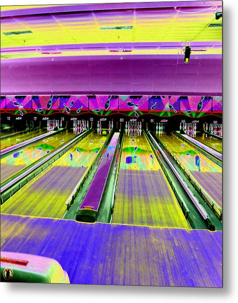 Bowling Alley Metal Print by Peter  McIntosh