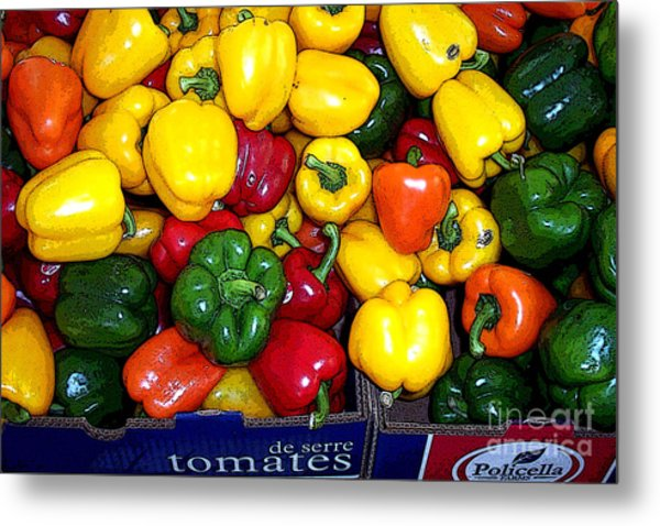 Box Of Peppers Metal Print