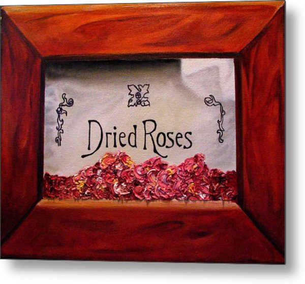 Box Of Roses Metal Print