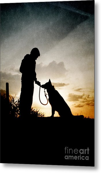Boy And His Dog Metal Print