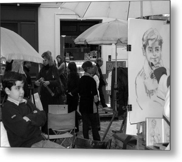 Boy In Montmartre Metal Print by Diane Height