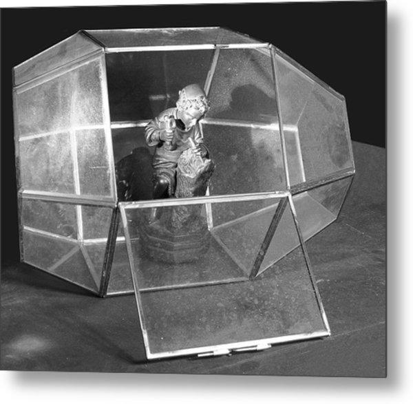 Boy In The Box Metal Print by Viktor Savchenko