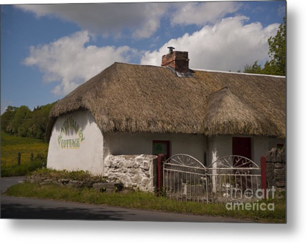 Boyne Valley Cottage Metal Print by Philippe Boite