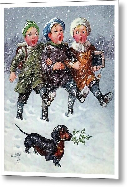 Boys Are Singing Together Christmas Songs Metal Print
