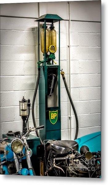 Bp Gas Pump Metal Print