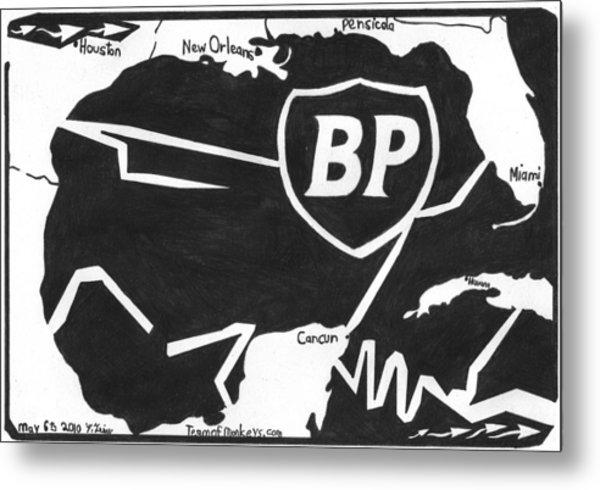 Bp Oil Slick Metal Print by Yonatan Frimer Maze Artist