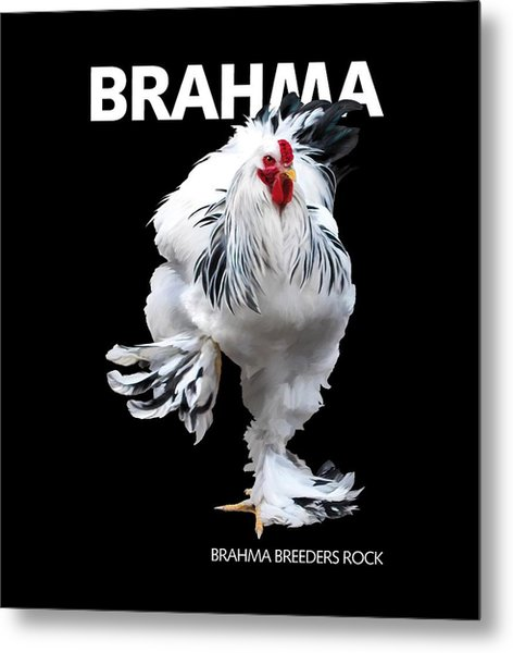 Brahma Breeders Rock T-shirt Print Metal Print
