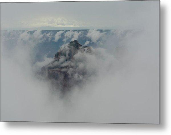 Brahma Temple In A Sea Of Clouds Metal Print