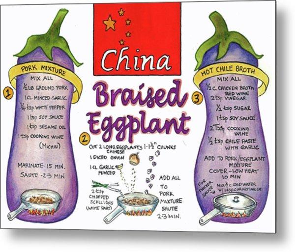 Braised Eggplant Metal Print