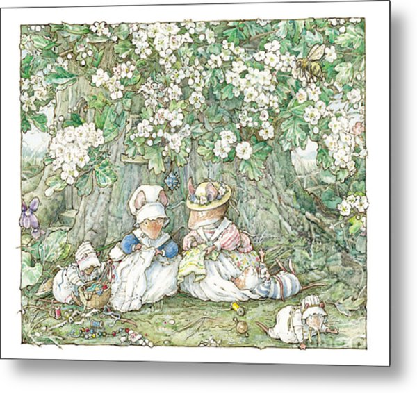 Brambly Hedge - Hawthorn Blossom And Babies Metal Print