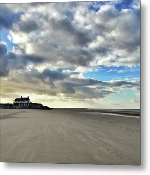 Brancaster Beach This Afternoon 9 Feb Metal Print