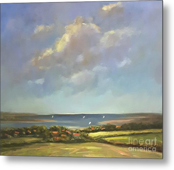 Metal Print featuring the painting Brancaster Staithes, Norfolk by Genevieve Brown