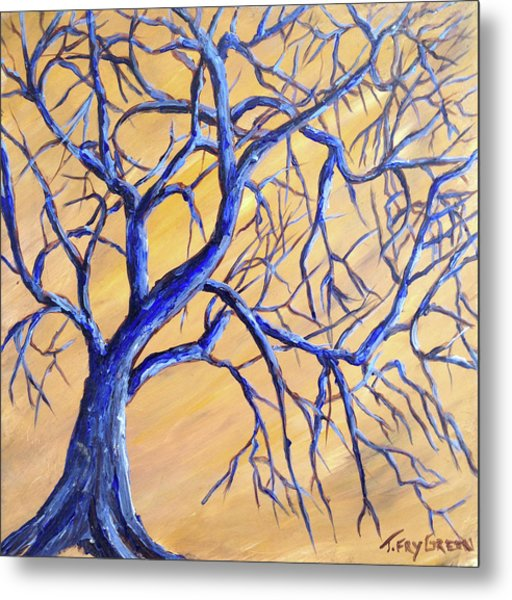 Branches Of Blue Metal Print