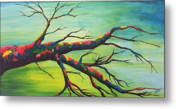 Branching Out In Color Metal Print