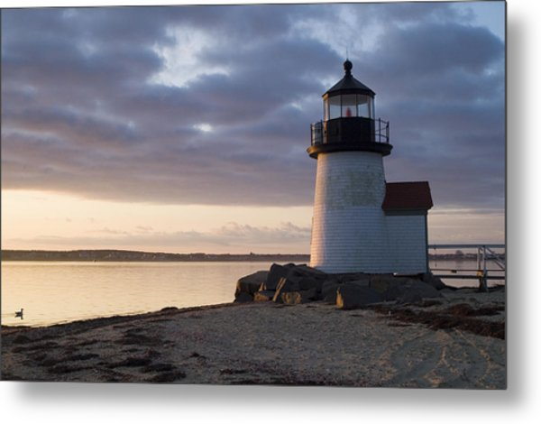 Brant Point Light Number 1 Nantucket Metal Print by Henry Krauzyk