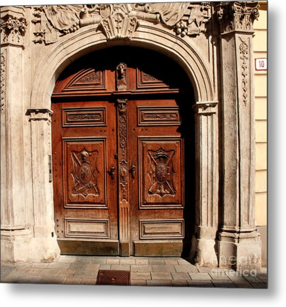 Bratislava Doors Metal Print