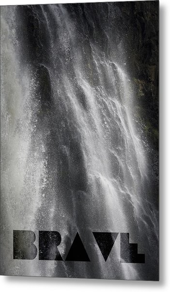 Metal Print featuring the photograph Brave by Jocelyn Friis