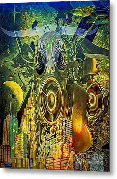 Metal Print featuring the digital art Brave New World by Eleni Mac Synodinos