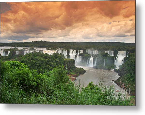 Metal Print featuring the photograph Brazil,iguazu Falls,spectacular View by Juergen Held