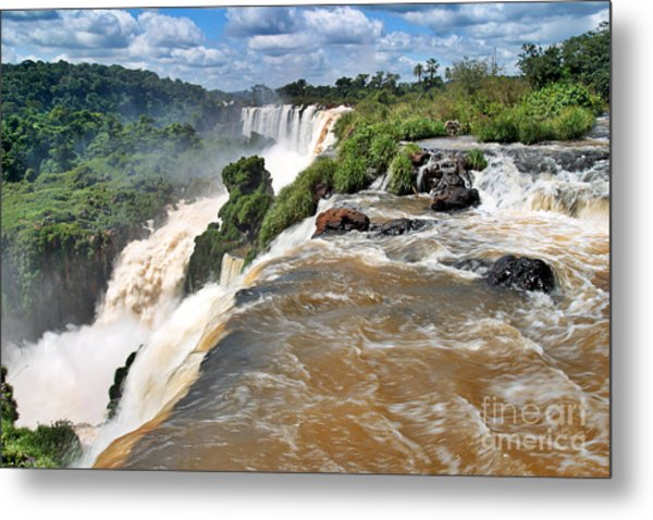 Metal Print featuring the photograph Brazil,iguazu Falls, by Juergen Held