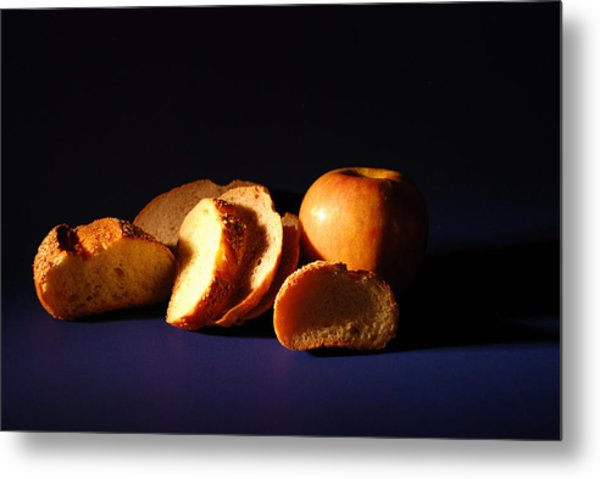 Bread And Apple Metal Print by William Thomas