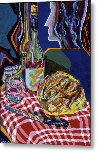 Bread And Wine Of Life Metal Print