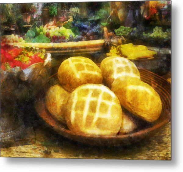 Bread Table Metal Print